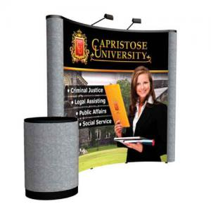 8' Coyote Curved Pop Up Display Front Mural Kit