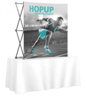 Hop Up Curved Front fabric 6' Tabletop Display