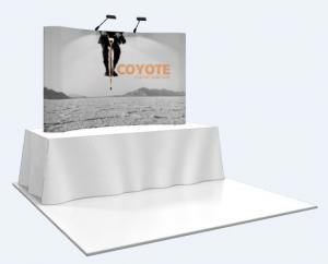 8' Coyote Mural Tabletop Display by New World Case, Inc.