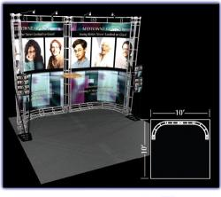 Castor 10' x 10' Truss Display