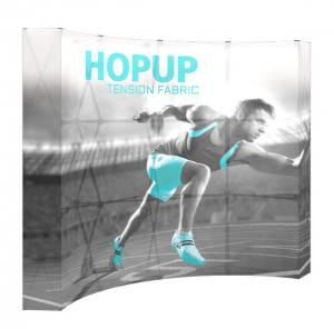 10' Wide Hop Up Curved Full Fabric Display