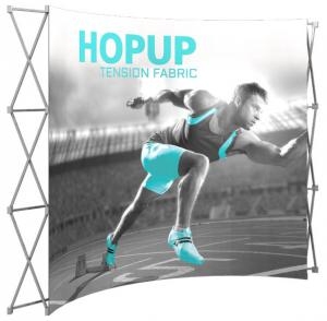 10' Wide Hop Up Curved Front Fabric Display