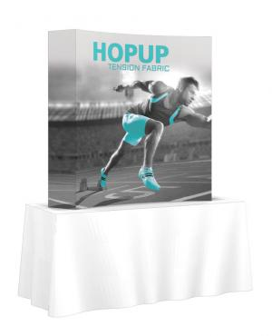 Hop Up Curved Full Fabric 6' Tabletop Display
