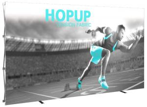 13' Wide Hop Up Straight Front Fabric Display