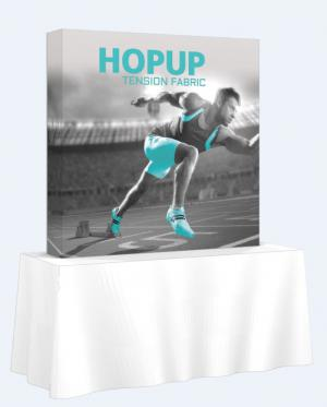 Hop Up Straight Full Fabric 6' Tabletop Display
