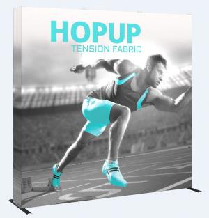 8' Wide Hop Up Straight Display with Full Fabric Graphics
