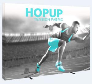 10' Wide Hop Up Straight Fabric Display with Full Graphic