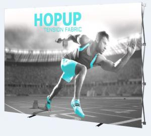 10' Wide Hop Up Straight Fabric Display with Front Graphic