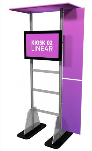 Linear Large Monitor Kiosk Kit 02