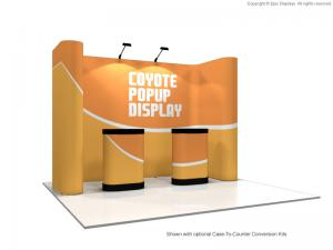 10' Coyote Horseshoe Pop Up Display Graphic Mural Kit