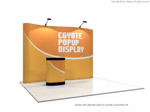 10' Coyote Serpentine Pop Up Display Graphic Mural Kit