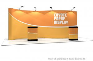 20' Coyote Serpentine Pop Up Display Graphic Mural Kit