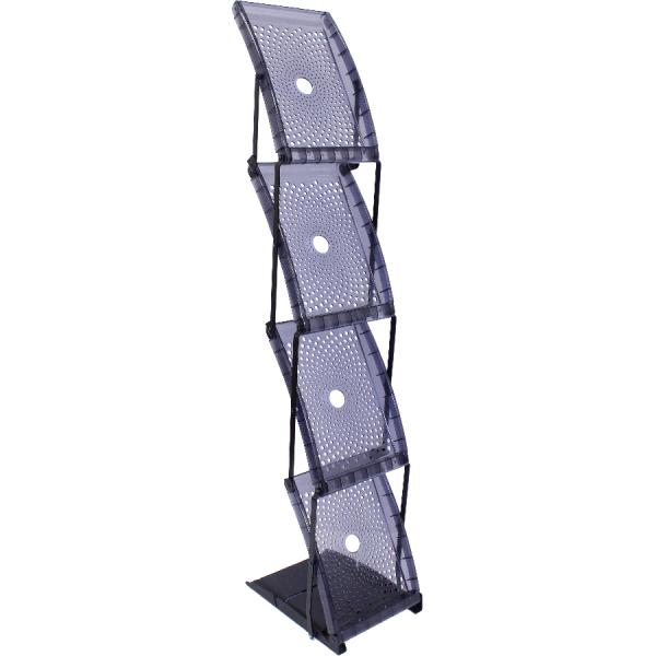 Quantum Single Sided 4 pocket Literature Rack