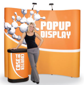 Coyote Mural Pop-Up Display Kits 10 and 8' Wide