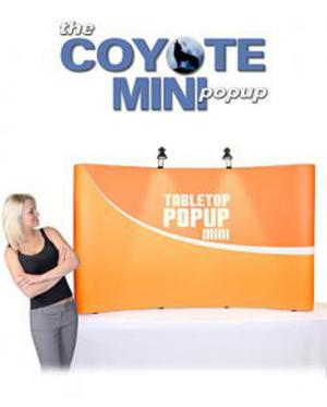 Coyote Mini Tabletop Pop Up Display by New World Case, Inc.
