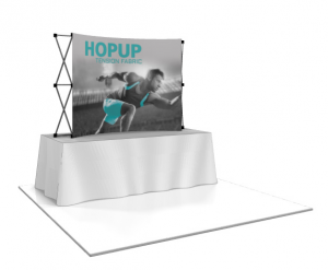 Hop Up Curved Front Fabric 8' Table Top Display