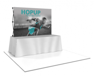 Hop Up Straight Front Fabric 8' Table Top Display