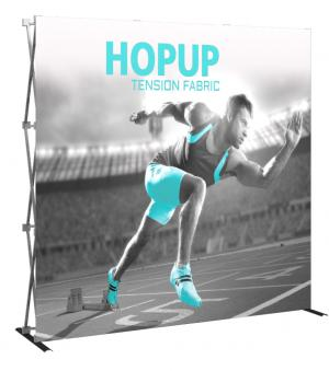8' Wide Hop Up Display Replacement Fabric Graphics, Straight and Curved Displays