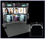 View: Castor 10' x 10' Truss Display