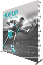 View: 10'w x 10'h Hop Up Straight Fabric Display with Front Graphic