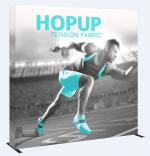 View: 8' Wide Hop Up Straight Display with Full Fabric Graphics