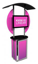 View: Linear Large Monitor Kiosk Kit 01