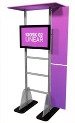 View: Linear Large Monitor Kiosk Kit 02