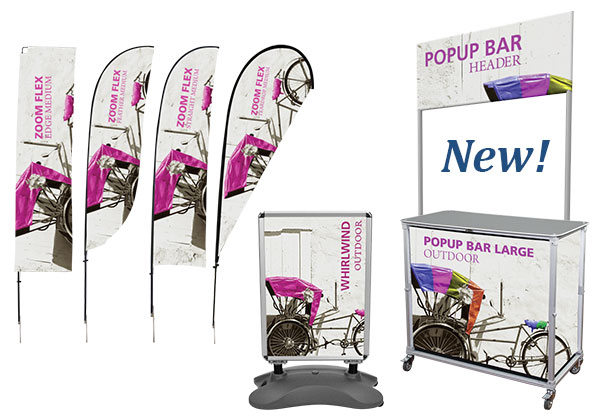 Popup Booths Table Top Displays Folding And Collapsible Literature Racks Banner Stands Printed Throws Trade Show Display Shipping Cases