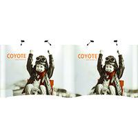 View: 20' wide Coyote Pop Up Displays