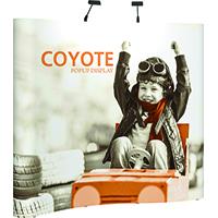 View: 8' wide Coyote Pop Up Displays