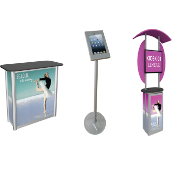 View: Monitor Kiosks-Display Counters-Display Stands