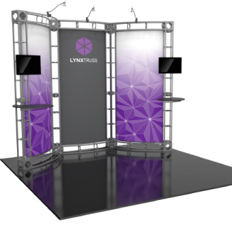 View: Orbus Orbital Truss 10 X 10 Linear Displays by New World Case, Inc.