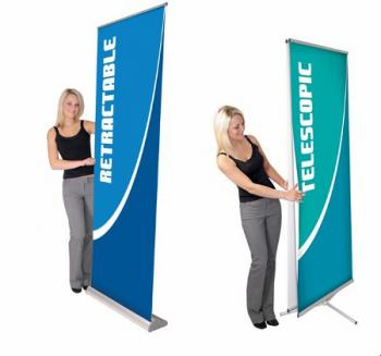 View: Orbus Retractable and Telescoping Banner Stands