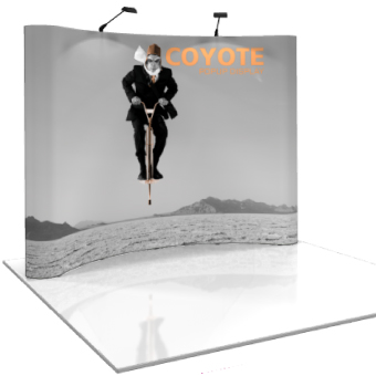 10 Foot Coyote Curved Pop Up Display