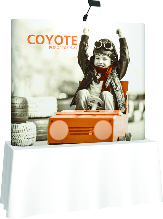 Coyote Table Top Display Booth- Order online! Graphics kit