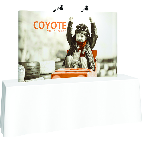 Orbus Coyote Mini Pop Up Display 8ft Full graphic Mural with Hardware