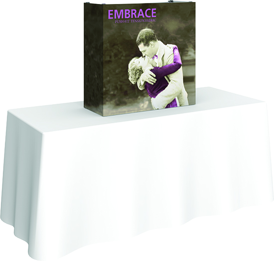 2.5' Embrace Table Top display full graphic and hardware