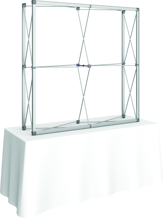 5' Collapsible frame for full graphics with end caps