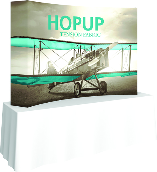 8ft curved table top display