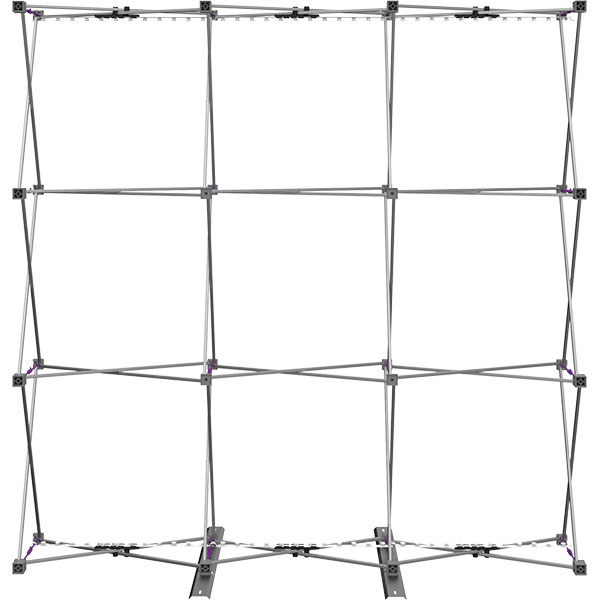 8ft Backlit Full Height Tension Fabric Frame with Lighting
