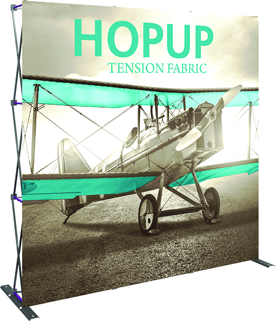 Orbus 3x3ft HopUp Straight fabric stand up trade show displays