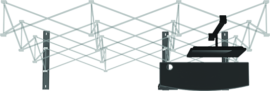 8ft HopUp Display reusable frame kit with accessories