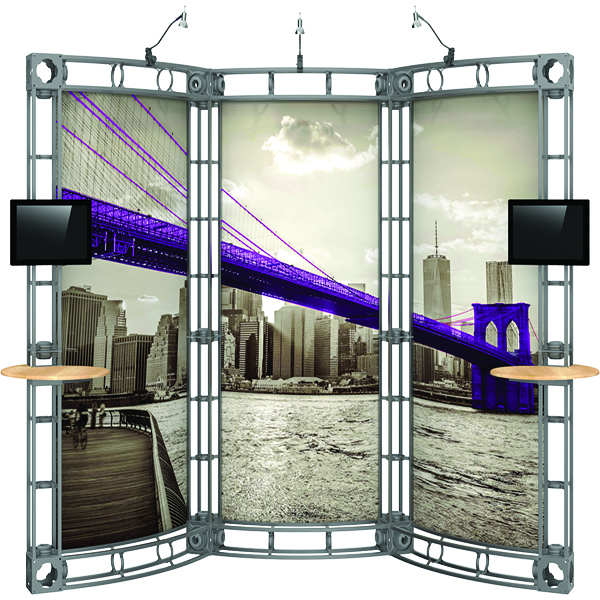 Orbus Orbital Express 10x10 Truss Displays with Full Graphics