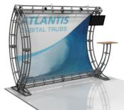 Orbus Atlantis 10 x 10 Truss display Kit with monitor kit and ctop