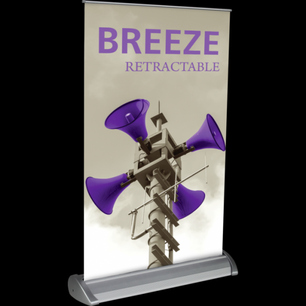 Orbus Breeze II Retractable Banner Stand for Tabletops