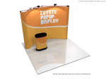 View: 8' Coyote Curved Pop Up Display Full Mural Kit