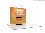 8 foot Coyote Serpentine Pop Up Display Graphic Kit