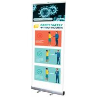 Orbus Mosquito 800 Retractable Banner Stand with Covid 19 Graphics