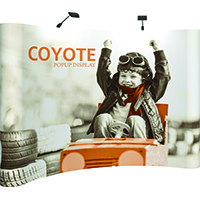 Orbus Coyote 10' Curved Popup Display with full graphics