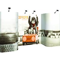 Orbus 20ft Coyote Deluxe Horseshoe Popup Display Graphic mural Kit